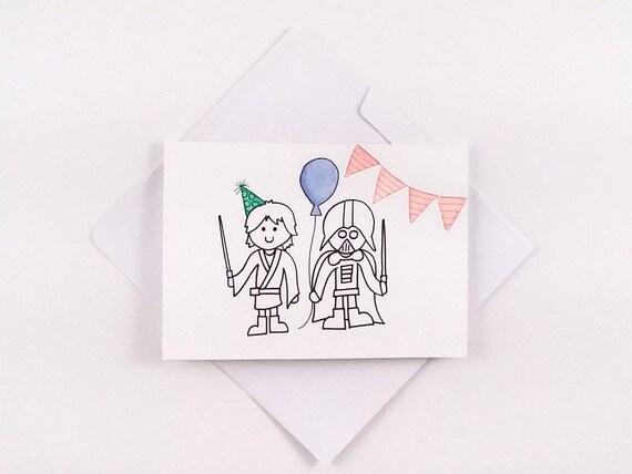 Cute Star Wars Birthday Card Star Wars Birthday Card Star Etsy