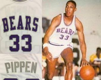 Scottie Pippen High School Jersey Bears Chicago Bulls Michael Jordan Dennis Rodman Seattle Supersonics Sonics Houston Rockets USA Basketball