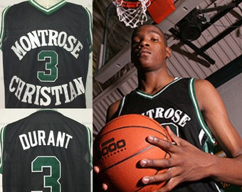 Kevin Durant High School Montrose Christian Throwback Jersey Seattle Supersonics Sonics Golden State Warriors Oklahoma City Thunder Sonics