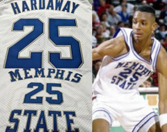 Anfernee Penny Hardaway  25 Memphis State Tigers White Home College  Throwback Jersey Orlando Magic Phoenix Suns Blue Chips Shaq Lil Penny 6a84b99f1