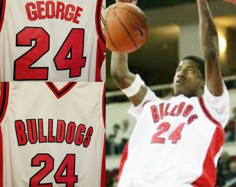 73c258030a71 Paul George High School throwback College jersey OKC Thunder Indiana Pacers  Westbrook Carmelo Anthony Bulldogs PG13 shirt PG-13