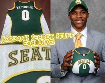 81cb1a0cd25e Russell Westbrook Seattle Sonics Supersonics OKC Thunder Jersey Oklahoma  City Kevin Durant Brodie Why Not Shawn Kemp Gary Payton Paul George