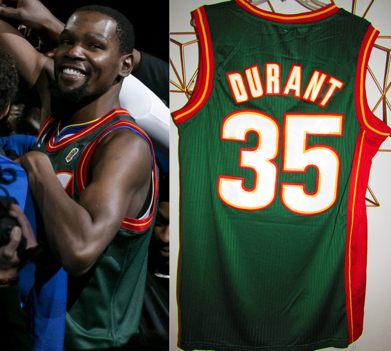 6f9c5f091 Kevin Durant 90s throwback Seattle Supersonics Sonics jersey