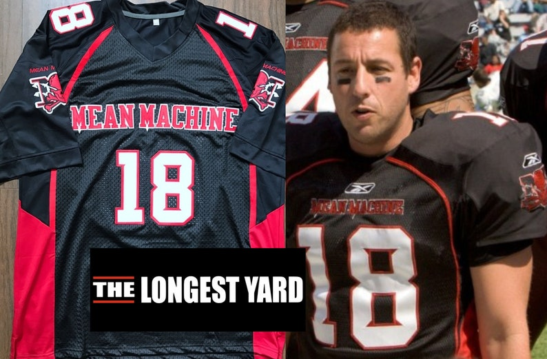 Paul Crewe The Longest Yard Jersey Mean Machine Football Adam Sandler Nelly  Chri... Paul Crewe The Longest Yard Jersey Mean Machine Football Adam  Sandler ... a042f9234