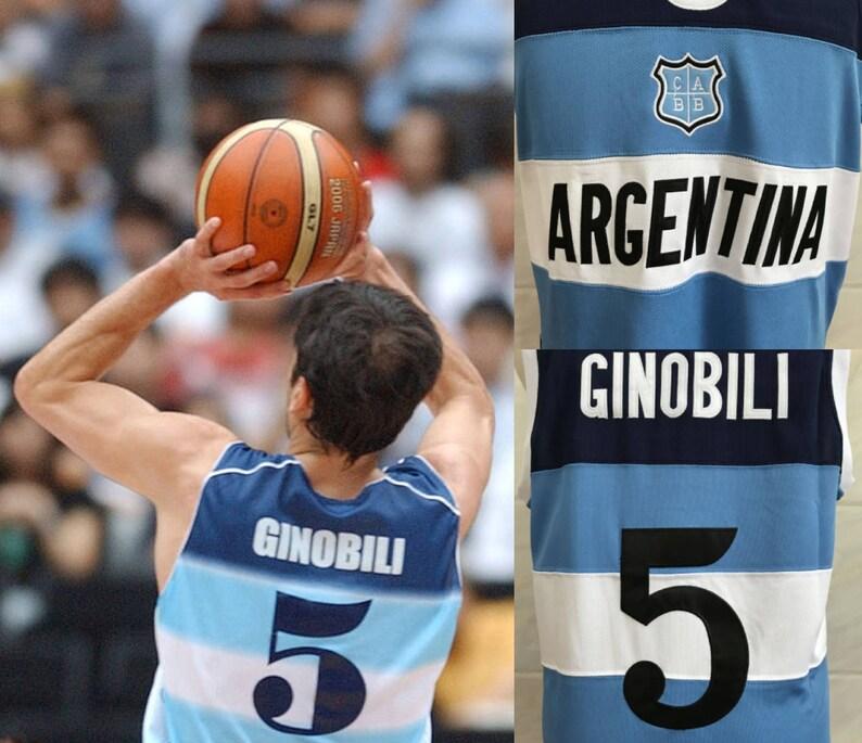 Manu Ginobili Argentina Jersey Fiba Basketball Euro European  9c5752b58