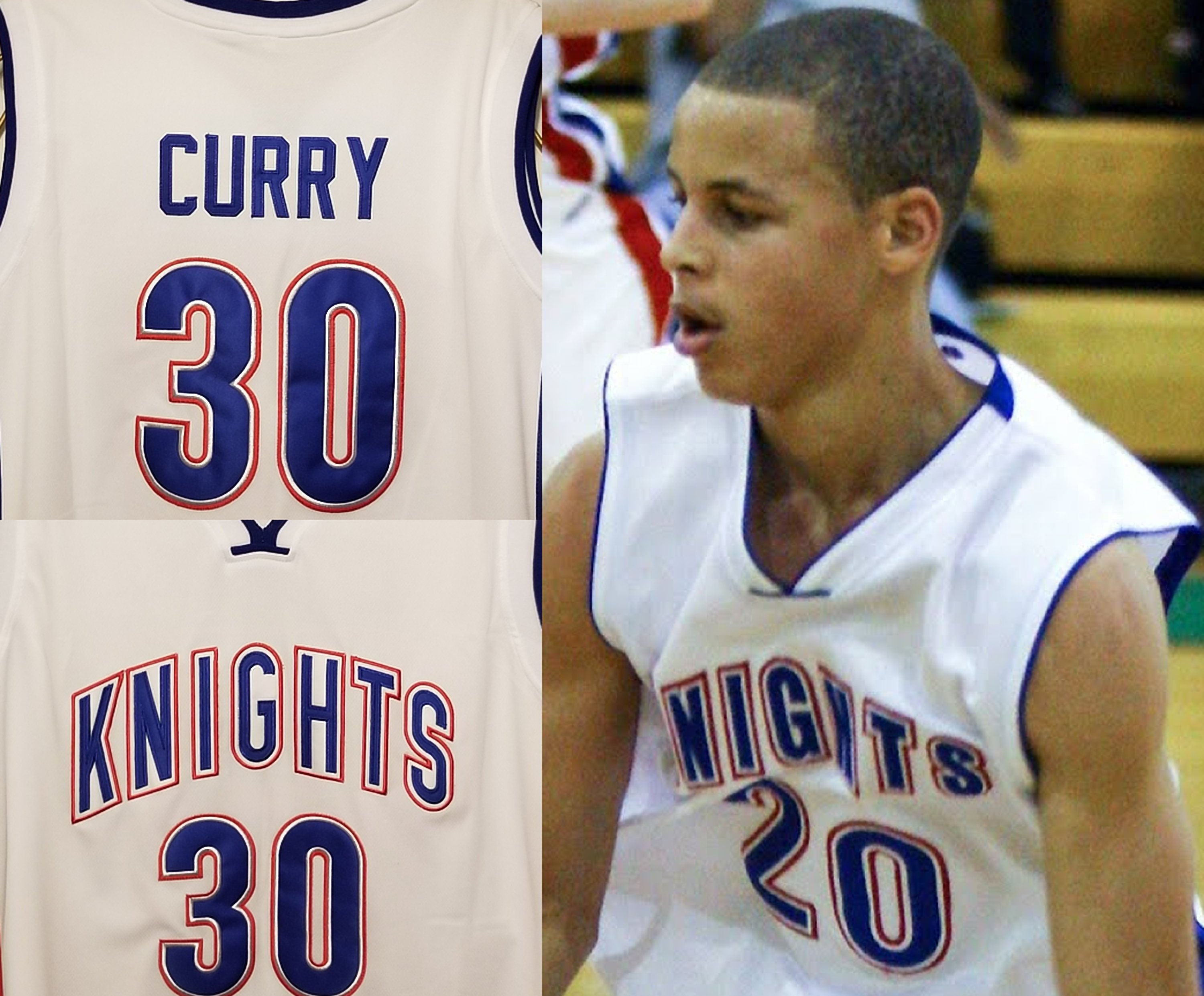 Stephen Curry High School Charlotte Christian School Jersey Etsy