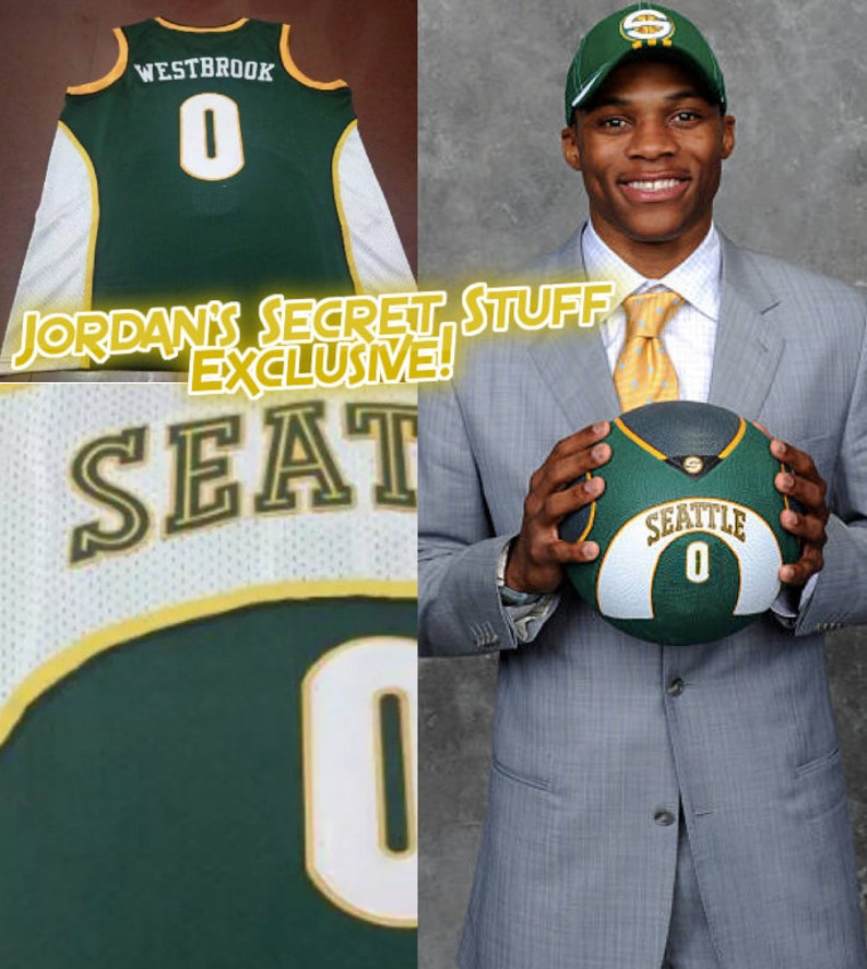 840ae3c0f Russell Westbrook Seattle Sonics Supersonics OKC Thunder