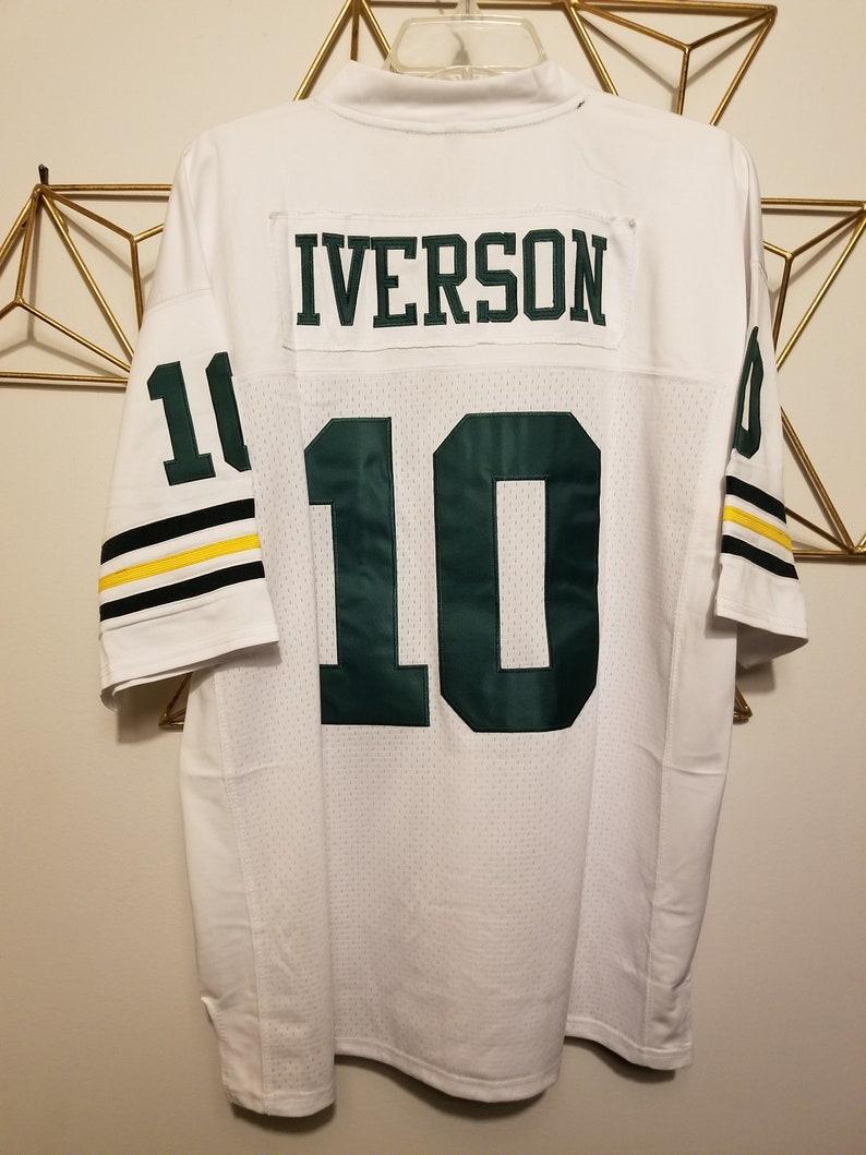 Rare Allen Iverson Football Jersey Bethel High School Hampton  0919b7bb0