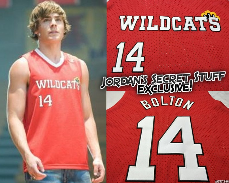 Troy Bolton High School Musical 3 Wildcats Basketball Jersey  76856ef7a