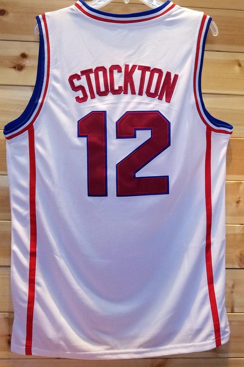 2d75993f4 John Stockton Throwback College Jersey High School Utah Jazz