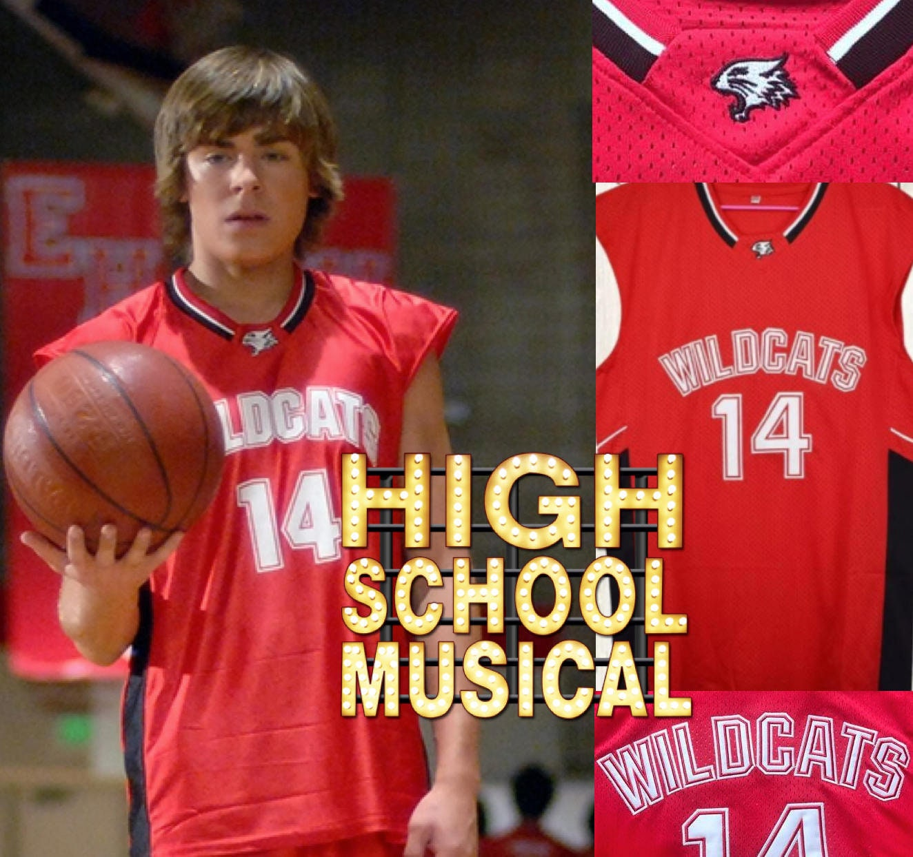 Troy bolton wildcats high school musical jersey zac efron etsy jpg  1324x1244 Jersey high school musical 6688255e9