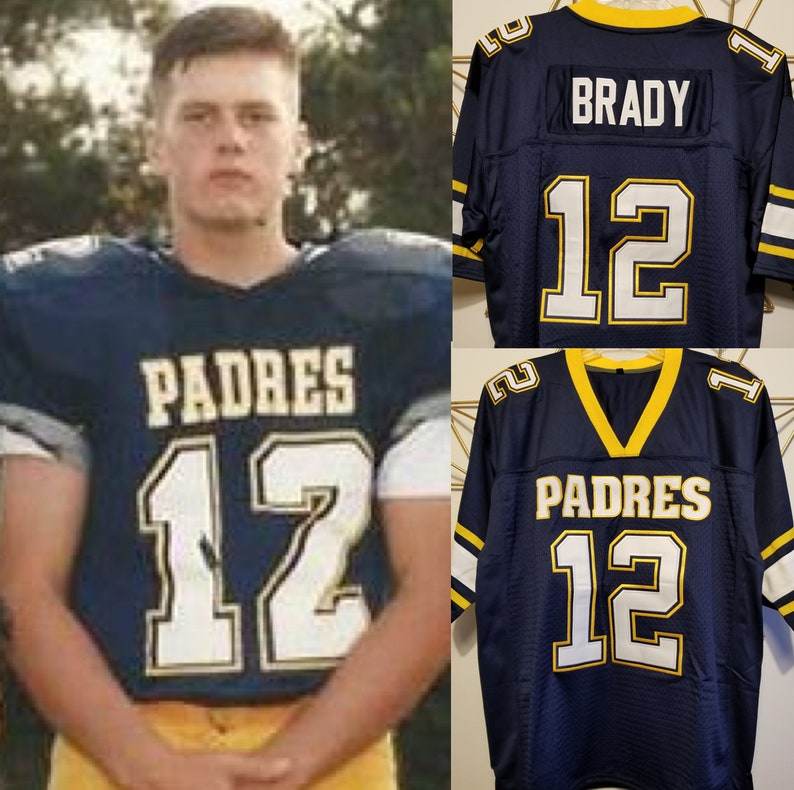 efefbfbbc Tom Brady High School Padres Football Jersey New England