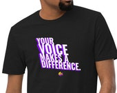 Your Voice Makes a Difference | Unisex Recycled T-shirt