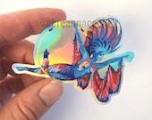 Betta Fish Body Paint | Sticker | Holographic Vinyl | 3in x 2in