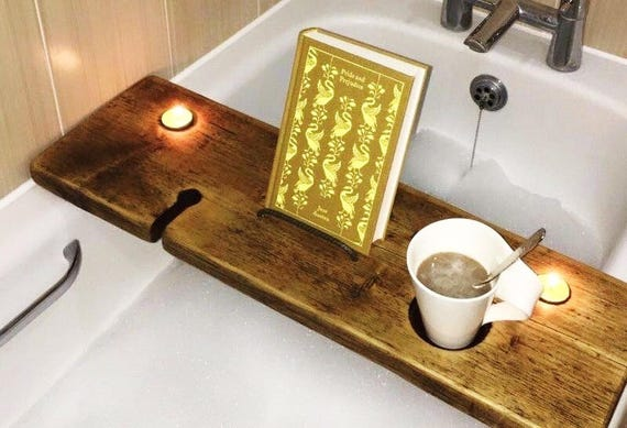 Tablet Holder Bath Book Holder Ipad Bath Tray Magazine | Etsy