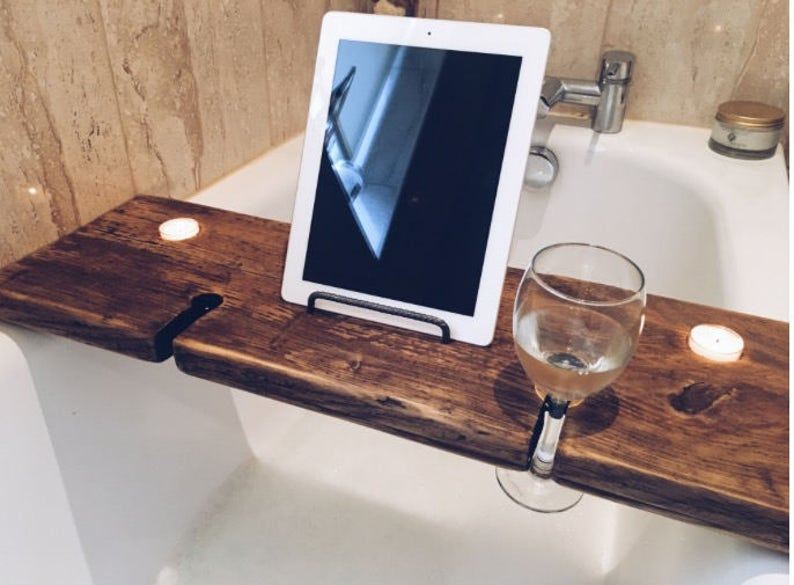 Bath Tray  Bath Caddy  Bath Shelf  Bath Rack  Bath Wine image 0