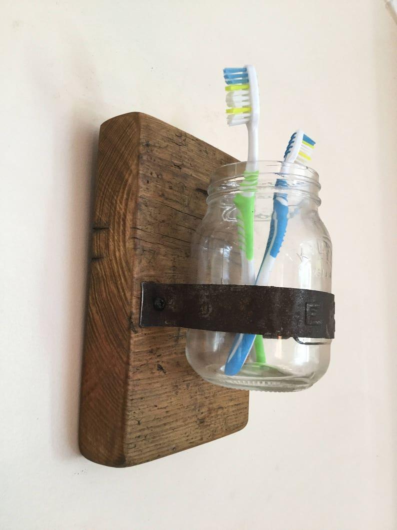 Toothbrush Holder Wall Mounted Toothbrush Holder Bathroom Etsy