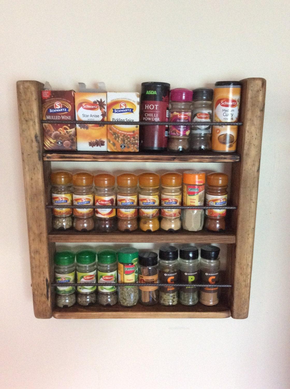 Spice Rack Holz Spicerack Küche Storage rustikale