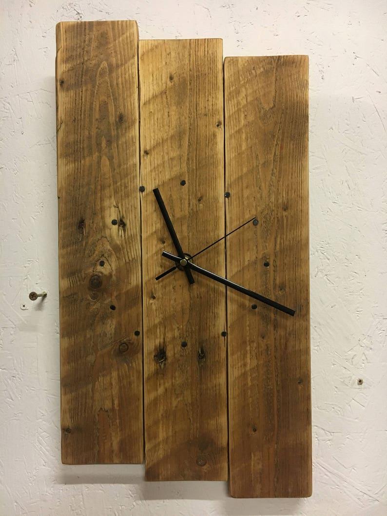Horloge murale bois récupéré horloge murale rustique récupéré horloge en bois palette bois horloge horloge murale horloge rustique shabby chic horloge