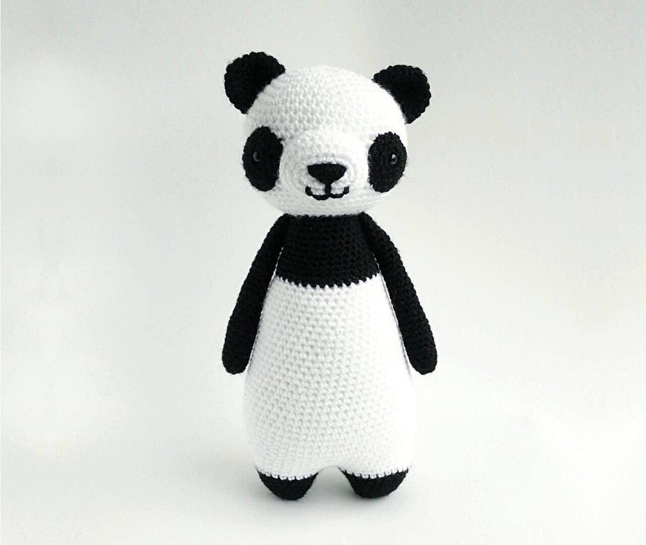 Oso Panda Patrón de Crochet Patrón de Ganchillo Amigurumi   Etsy