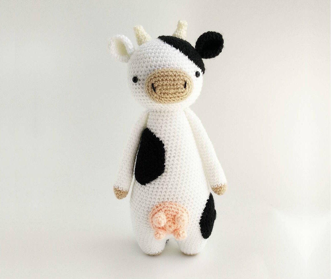 Vaca Patrón de Crochet Patrón de Ganchillo Amigurumi | Etsy