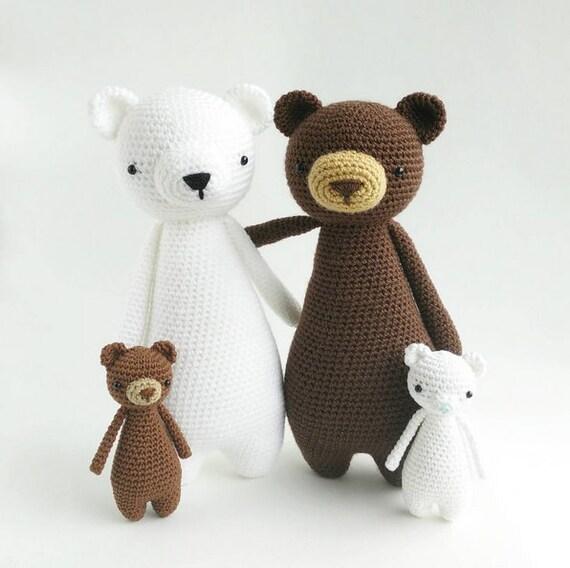 Oso Patrón de Crochet Patrón de Ganchillo Osito Amigurumi   Etsy
