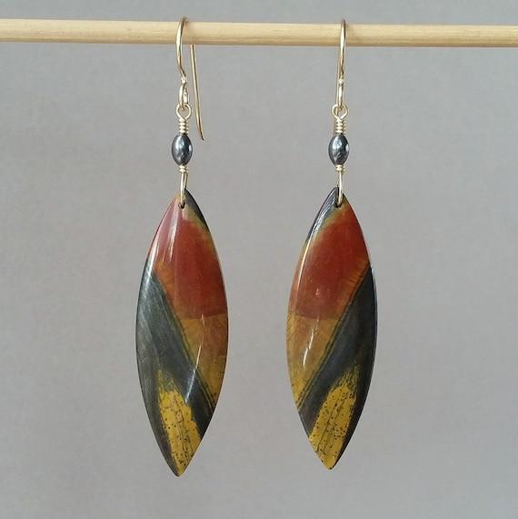 "OVAL 2.25/"" Long Hoop Earrings 5g Solid Sterling Silver Marquise"