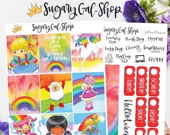 Rainbow Brite Planner Sticker Kit