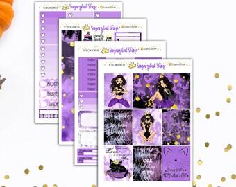 Miss Glam Lady D Black Cat Planner Sticker Set
