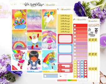 Rainbow Brite Planner Sticker Kit