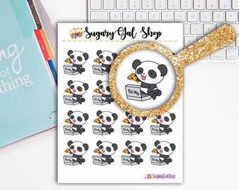 Pandi the Panda Pizza Night Planner Sticker Sheet