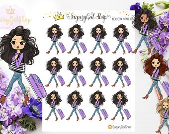 Miss Glam Lady D Travel Planner Stickers