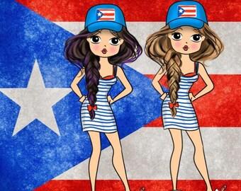 DIGITAL ONLY! Miss Glam Lady D Puerto Rico Die Cut