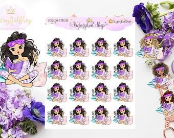 Miss Glam Lady D Let's Plan Planner Sticker Sheet