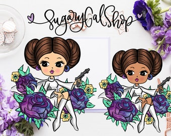 DIGITAL ONLY! Miss Glam Lady May 4th Be With You! Die Cut