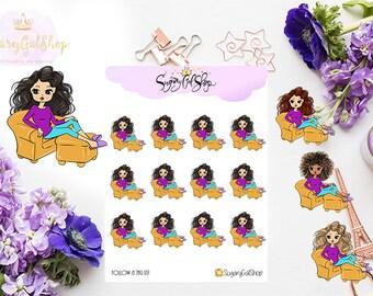 Miss Glam Lady D Relaxing Planner Sticker Sheet