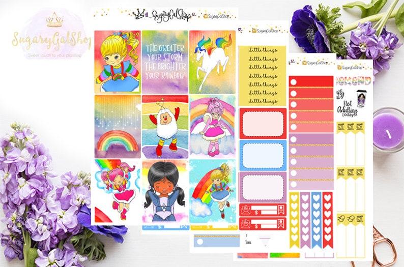 Rainbow Brite Planner Sticker Kit image 0
