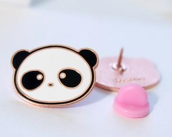 Yume Bear Enamel Pin, panda lapel pin, brooc, cute, kawaii, flair, cafe de yume, hard enamel