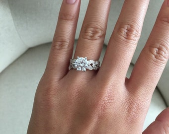 Large diamond ring | Etsy