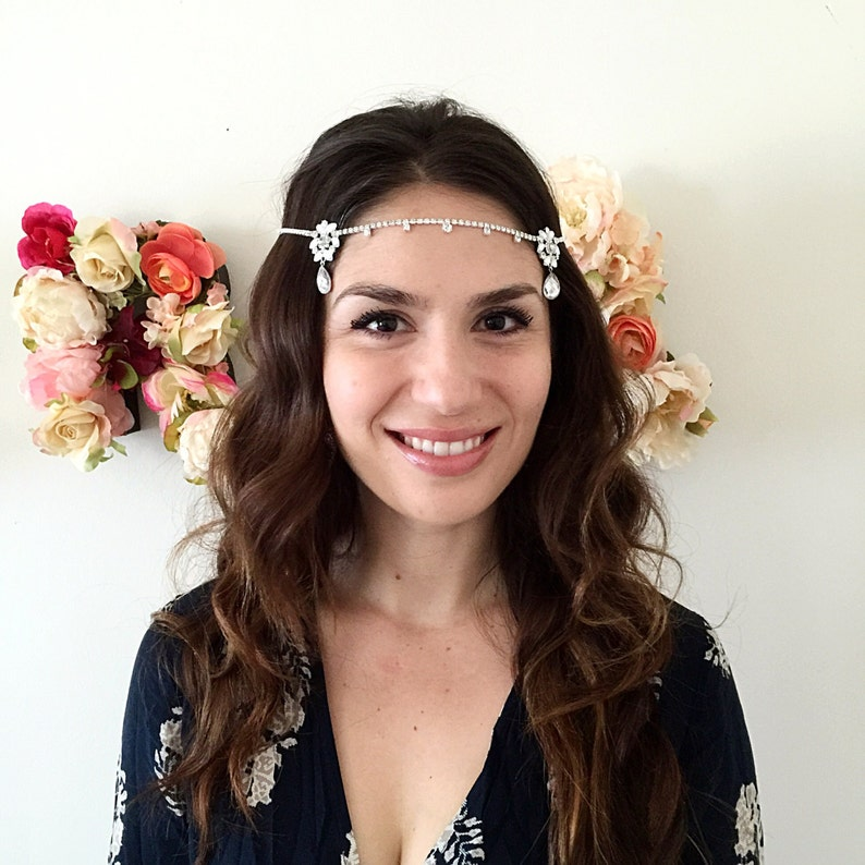 Boho bride Kim Kardashian wedding headpiece tiara headband  10ba66824d2