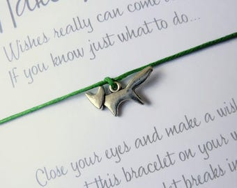 Wish Bracelet - Fox Charm Bracelet. Wildlife Woodland Gift. Foxy String Bracelet. Choice of Colours - Wish Knots