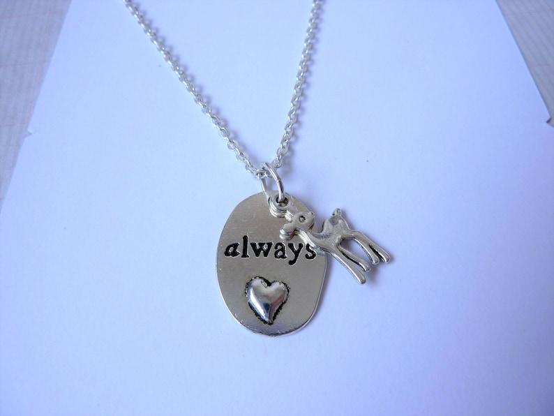 Always Doe Pendant Necklace Love Token Petronas Necklace.