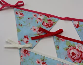 Floral Bunting, Nursery bunting, Baby bunting, Bedroom bunting, Bunting, tea party bunting, Wedding bunting, Cath Kidston style bunting