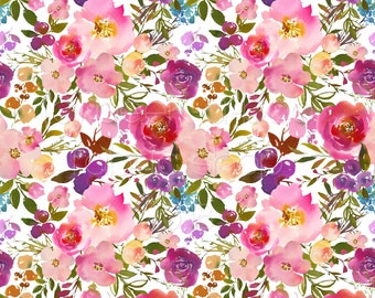 ae8da1666e7 SWIM Fabric: Lush Floral UV 50+ Swim Fabric. Sold by the 1/2 yard
