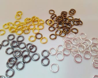 100 Bronze Calottes Crimps Clams Bead Ends Fastenings Bronze Jewellery Findings