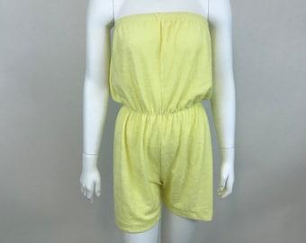 3d9a5bad0b Vintage 70s Terry Cloth Romper Adult Size L