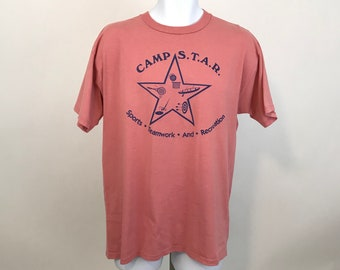 2d2e71d927e9 Vintage Jerzees T Shirt Camp S.T.A.R Sports Teamwork and Education Adult  Size L