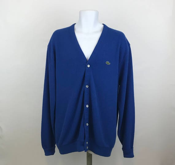 b6054cf7335 Vintage Izod Lacoste Cardigan Sweater Men s XLT Tall Izod