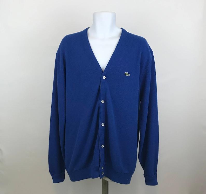 a96066047 Vintage Izod Lacoste Cardigan Sweater Men s XLT Tall Izod