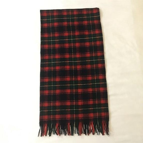 Vintage Pendleton Tartan Plaid Virgin Wool Scarf … - image 4